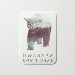 Owlbear (Typography) Bath Mat