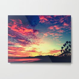Santa Barbara Califronia Sunset Metal Print