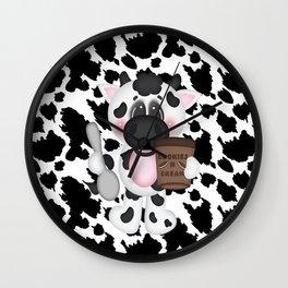 Cow Eating Ice Cream Wall Clock
