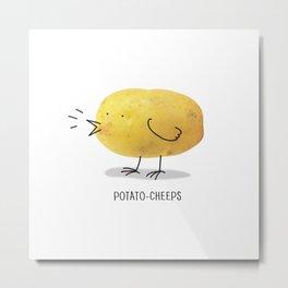 potato-cheeps Metal Print