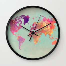 world map 102 #worldmap #map Wall Clock