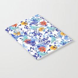 Indigo Bunting Floral Notebook