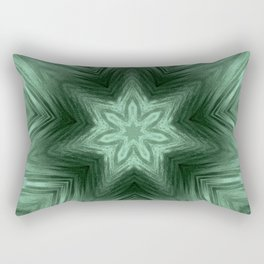 Green Star Flower Blossom Metallic Color #Pattern #Background Rectangular Pillow