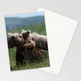 Alaska Grizzly Mother And A Cub In Katmai National Park #Society6 Stationery Cards