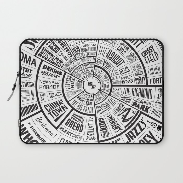 San Francisco Type Wheel Laptop Sleeve