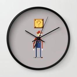 Pixel Plumber Wall Clock