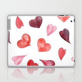 watercolor love pattern with hearts Laptop & iPad Skin