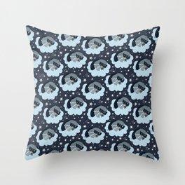 Good night patterns Throw Pillow
