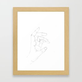 Hand drawing Framed Art Print