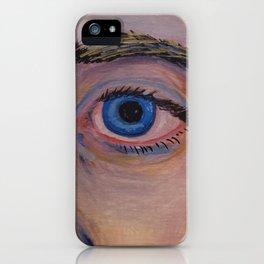 Blue Eye of a Man iPhone Case