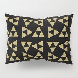 Print 127 - the legend of Zelda Triforce - Black Pillow Sham