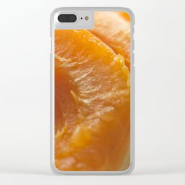 Slice apricots Clear iPhone Case