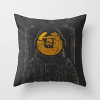 dark side of the moon Throw Pillows featuring Dark side of the moon by Rodrigo Ferreira