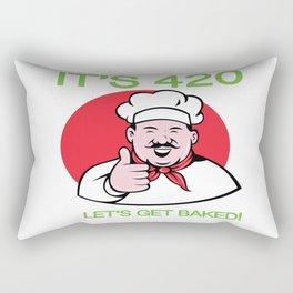 It's 420 Let's Get Baked Rectangular Pillow