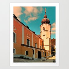 The village church of Helfenberg VII | architectural photography Art Print