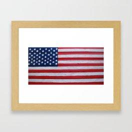 Large Wooden Flag Framed Art Print