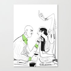 the couple Canvas Print