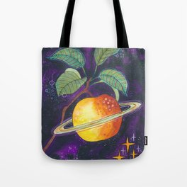 Space apple Tote Bag