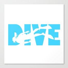Scuba Diving Canvas Print
