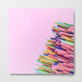 Colorful 3d abstract art Metal Print
