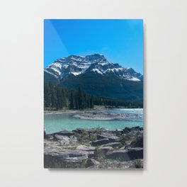 Rocky Riverbed - Athabasca River Metal Print