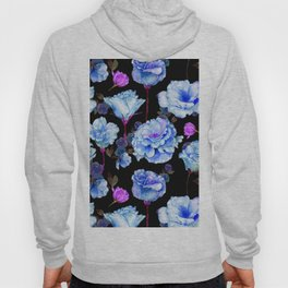 Blue pink purple watercolor roses pattern Hoody