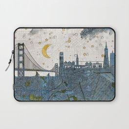 San Francisco skyline old map Laptop Sleeve