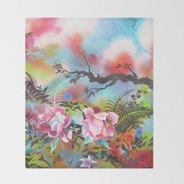 Pink Peonies Street Style Throw Blanket