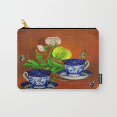 Teacups with Snap Peas Carry-All Pouch