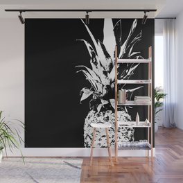 Pineapple Black and White #decor #society6 Wall Mural