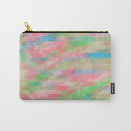 Washed Out Geometric: Rose, Spring Green, Turquoise Carry-All Pouch