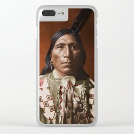 Little Hawk - Brulé - American Indian Clear iPhone Case