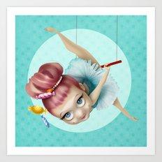 The trapezist Art Print