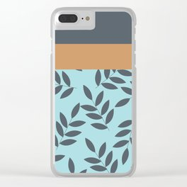 Leaves Patten , Clear iPhone Case