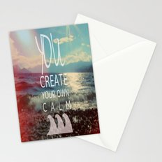 You Create Your Own Calm Stationery Cards