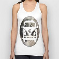 volkswagon Tank Tops featuring Moon Wagon by Isaak_Rodriguez
