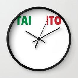 Taranto Italy flag holiday gift Wall Clock