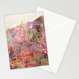Chicago map Stationery Cards