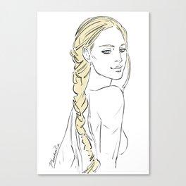 smirking girl Canvas Print