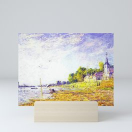 Golden Banks at Poissy, France by Francis Picabia Mini Art Print