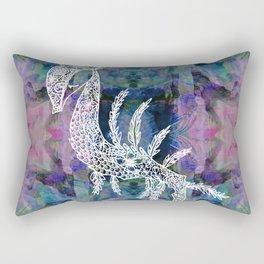 Frankie Floral Leafy Sea Dragon Rectangular Pillow