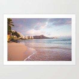 Sunset in Waikiki Art Print
