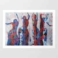 Dancing ladies no3 Art Print