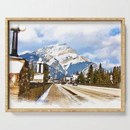 Cascade Mountain - Banff  Alberta Canada Serving Tray