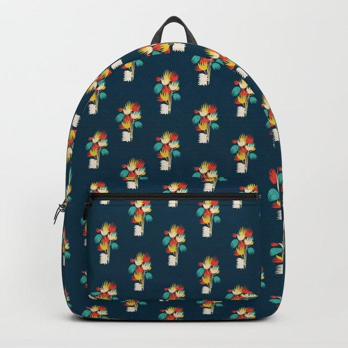 Hedgehog with flowers Backpack
