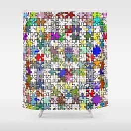 Jigsaw junkie Shower Curtain