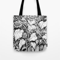 sunflowers Tote Bags featuring Sunflowers by Natalie Berman
