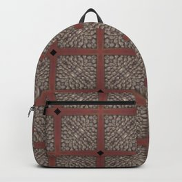 Rich Silver Wood Stone Textured Patten Abstract Backpack