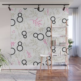 Womens day line style Wall Mural