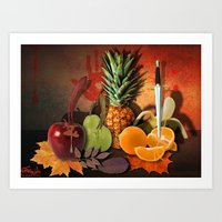 fruits Art Prints featuring Fruits by Katerina Gold
